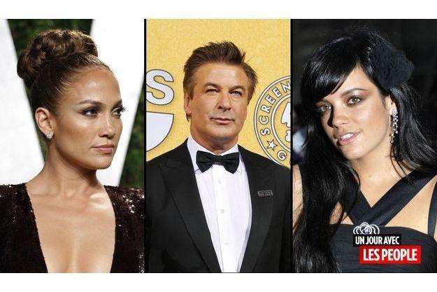 Jennifer Lopez, Alec Baldwin et Lily Allen