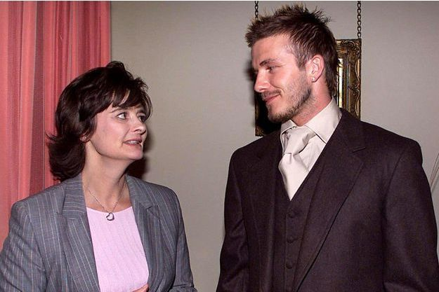David Beckham et Cherie Blair en 2002