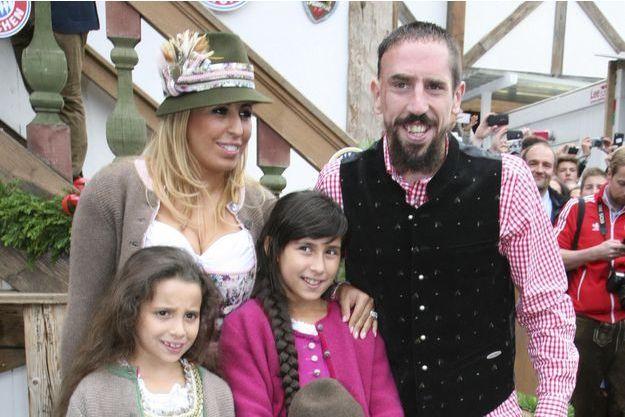 Franck Ribéry, sa femme Wahiba et leurs trois enfants à Munich en octobre dernier