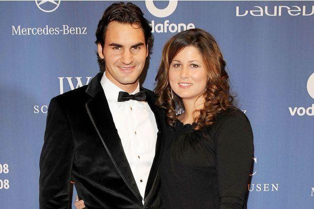 Roger Federer et son épouse Mirka.