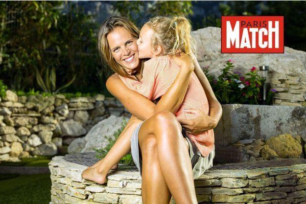 Chez elle, à Marseille, avec Manon, 4 ans et demi, vendredi 3 octobre.