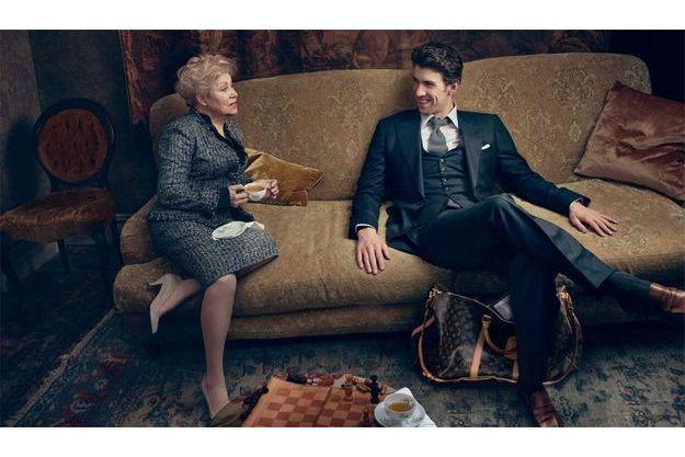 Larissa Latynina et Michael Phelps, deux légendes du sport réunis pour la nouvelle campagne de Louis Vuitton