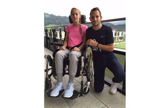 Renaud et Kira lors de leur rencontre, le 3 septembre, en Autriche.