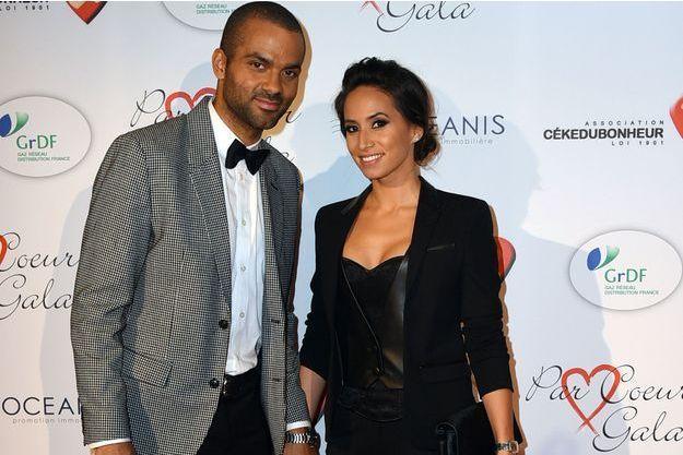 Tony Parker et Axelle Francine à Paris en septembre dernier.