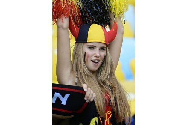 Capture écran du match Belgique-Russie.