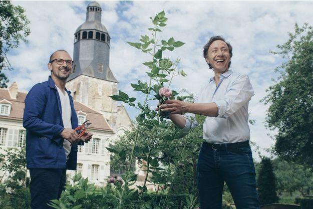 Stéphane Bern et son compagnon Lionel.