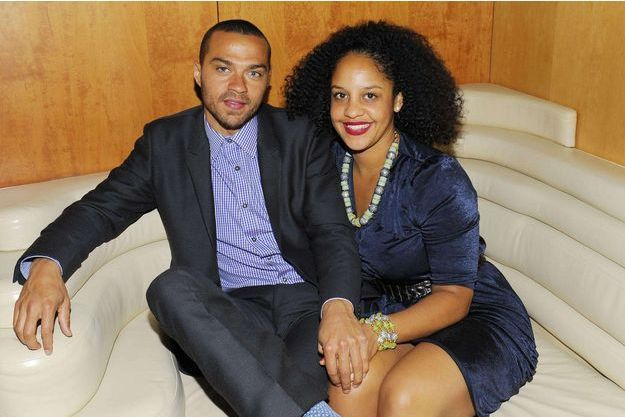 Jesse Williams et son épouse en mars 2012.