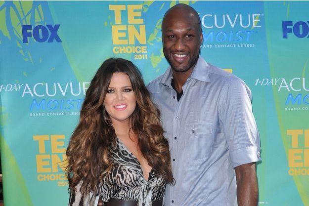 Khloé Kardashian et Lamar Odom aux Teen Choice Awards 2011.