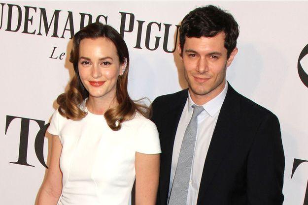 Leighton Meester et Adam Brody à New York le 8 juin 2014.