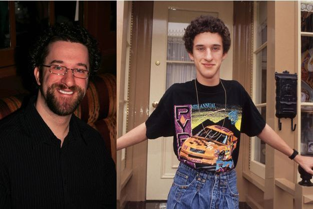 "Dustin Diamond, alias Screech, en 2010 et en 1992, au temps de ""Sauvés par le gong"""