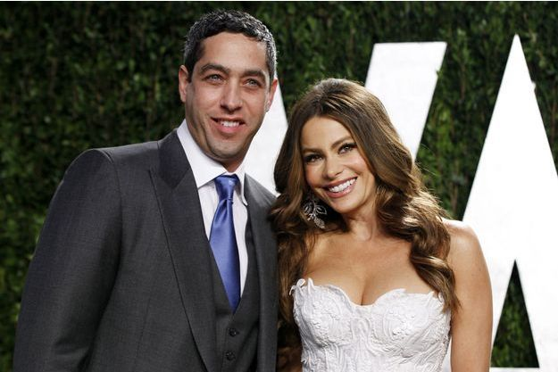Sofia Vergara, aux côtés de son ex-petit ami, Nick Loeb, en février 2012.