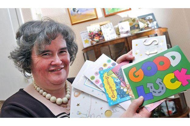 Susan Boyle chez elle, il y a deux jours, savoure son succès.
