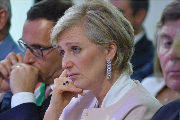 La princesse Astrid de Belgique dans les Abruzzes pour les 60 ans de la catastrophe minière du Bois du Cazier, le 1er août 2016