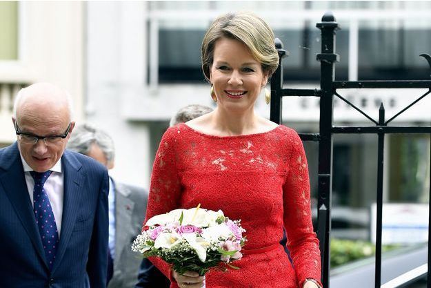 La reine des Belges Mathilde à Bruxelles, le 16 juin 2016