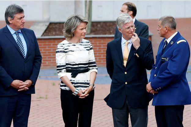 La reine Mathilde et le roi Philippe de Belgique à Charleroi, le 9 août 2016
