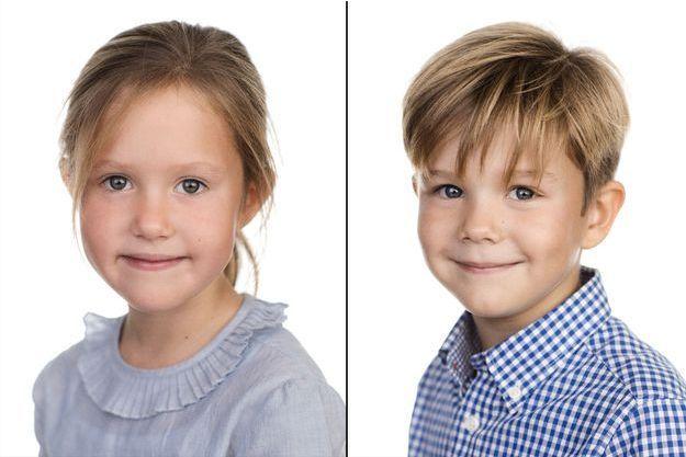 Portraits officiels de la princesse Josephine et Vincent de Danemark pour ses 7 ans, diffusés le 8 janvier 2018