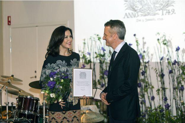 La princesse Mary de Danemark reçoit le Berlingske Fonds Hæderspris à Copenhague, le 10 janvier 2017