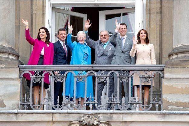 La famille royale de Danemrak à Copenhague, le 16 avril 2016