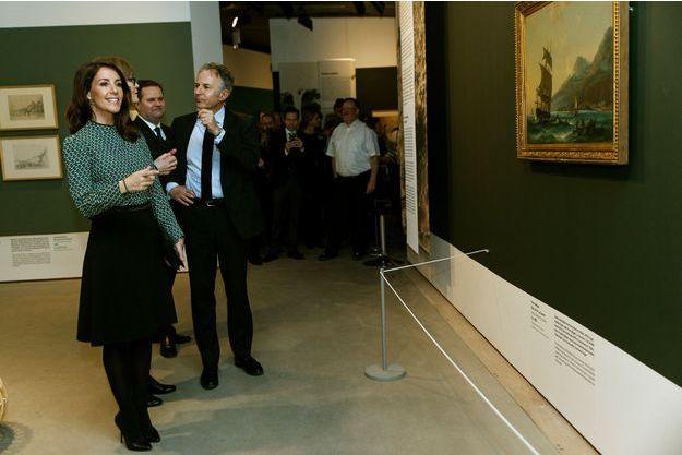 La princesse Marie lors de l'inauguration de l'exposition Pissarro à Copenhague, le 9 mars 2017
