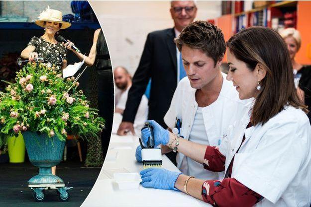 La princesse Mary de Danemark à Odense le 17 août 2017 et à Herlev le 18 août 2017