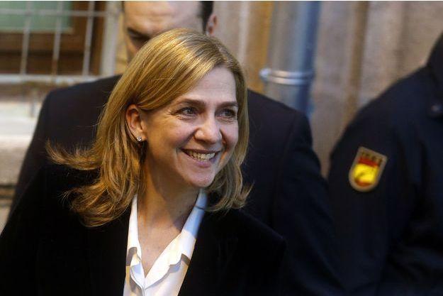 L'infante Cristina, après son passage devant le juge en février 2014.