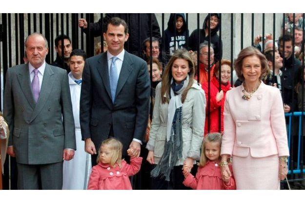 La famille royale espagnole.