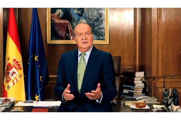 Juan Carlos, lors des ses voeux à la télévision en décembre.