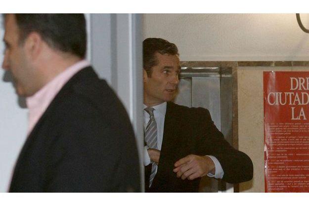 Iñaki Urdangarin à son arrivée au tribunal de Palma de Majorque le 25 février.