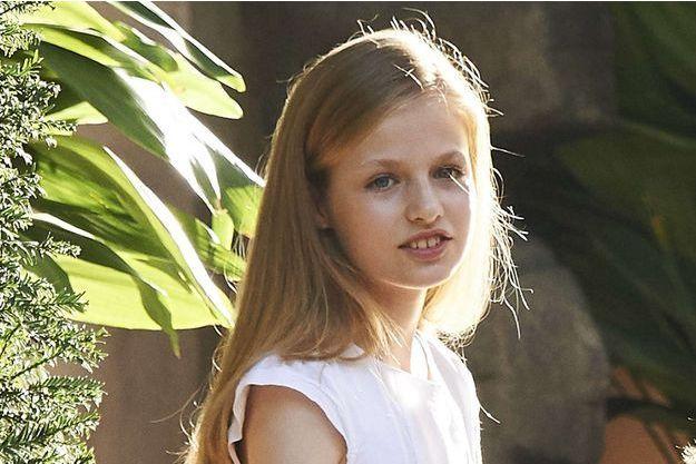 Leonor d'Espagne, princesse des Asturies, le 31 juillet 2017