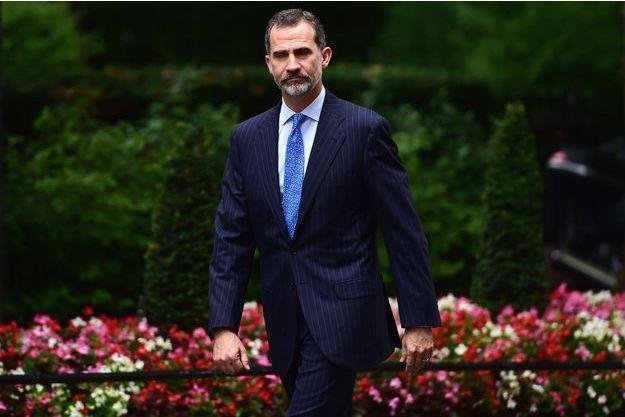 Le roi Felipe VI d'Espagne le 13 juillet 2017