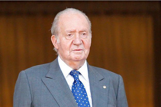 Juan Carlos d'Espagne à Montevideo en Uruguay, le 1er mars 2015