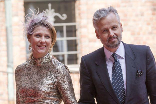 La princesse Märtha Louise de Norvège et son époux Ari Behn, en avril 2016 à Stockholm en Suède.