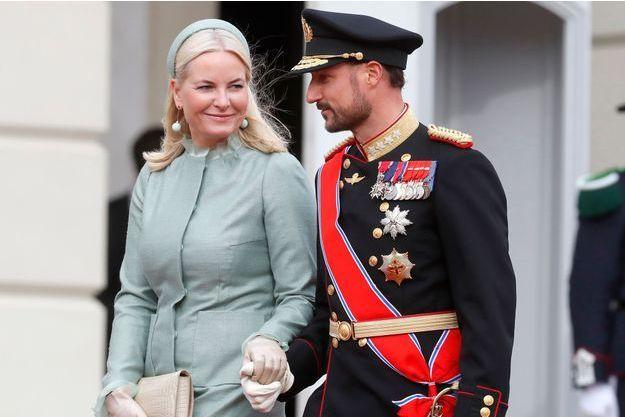 La princesse Mette-Marit et le prince Haakon de Norvège à Oslo, le 21 mars 2017