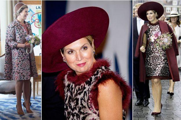 La reine Maxima des Pays-Bas à Paris le 11 mars 2016 et dans l'Eemland le 24 octobre 2017