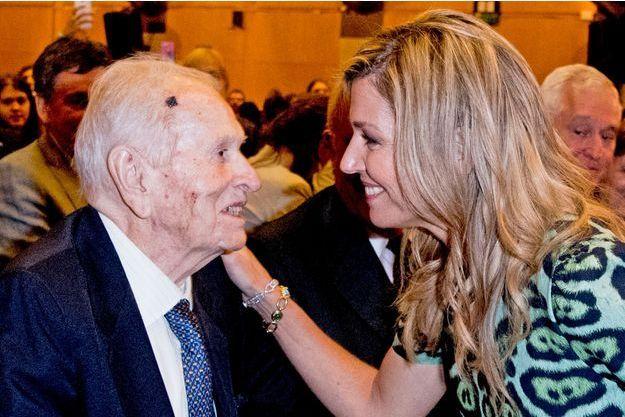 La reine Maxima des Pays-Bas et son père Jorge Zorreguieta à Buenos Aires, le 11 octobre 2016