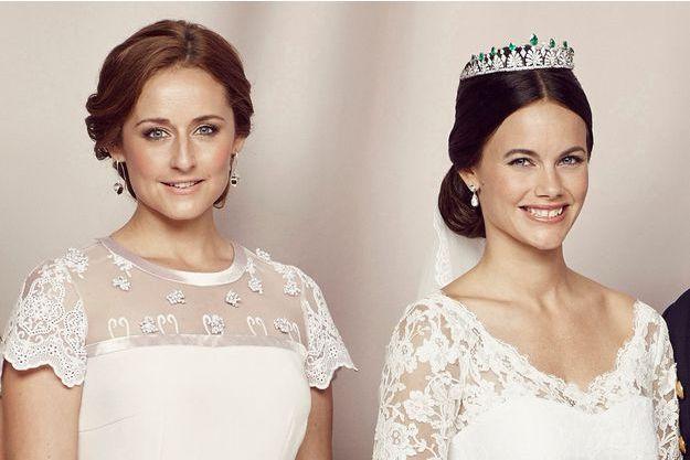 Lina Hellqvist et la princesse Sofia de Suède, le jour du mariage de celle-ci le 13 juin 2015