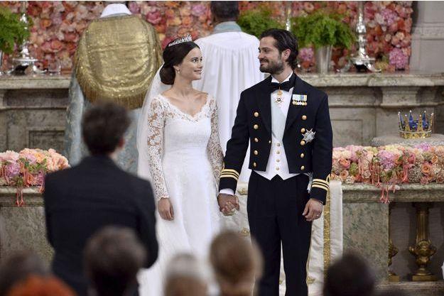 Le prince Carl Philip de Suède et de sa femme Sofia Hellqvist.