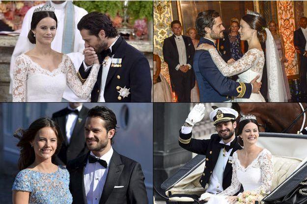 Le prince Carl Philip de Suède et Sofia Hellqvist, lors de leur mariage.