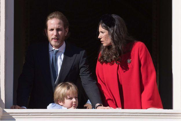 Andréa et Tatiana Casiraghi, avec leur fils aîné Sacha en novembre 2017.