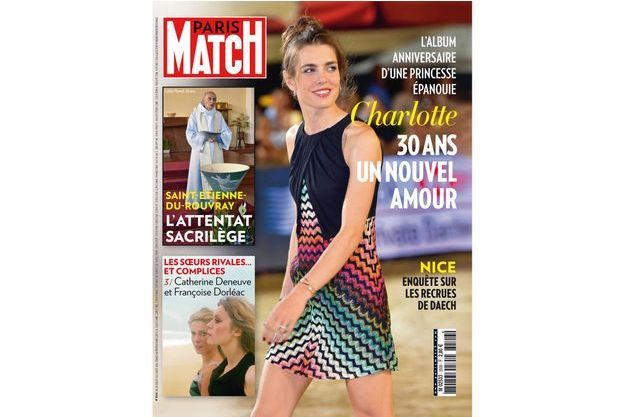 En couverture de Match, Charlotte Casiraghi lors de la soirée de cloture du 20ème Jumping International de Monte-Carlo.