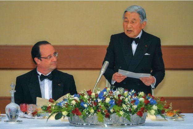 L'empereur Akihito a reçu le président François Hollande