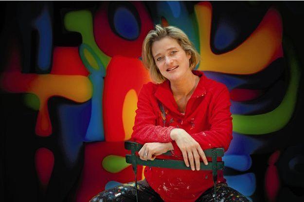 Delphine Boël, en 2008, dans son atelier d'Uccle, près de Bruxelles.
