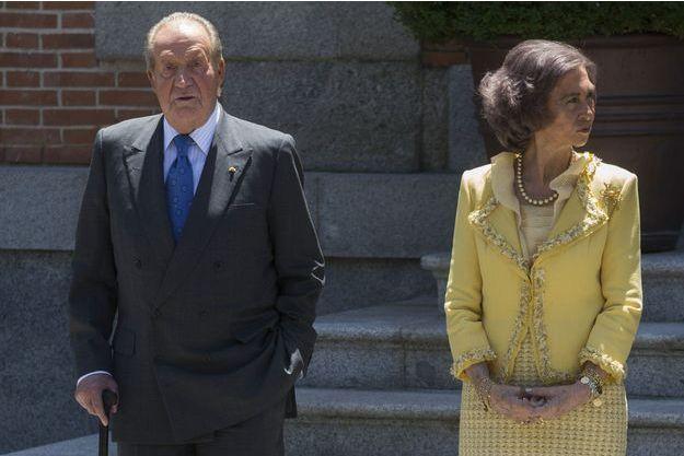 Juan Carlos et l'ex-reine Sofia