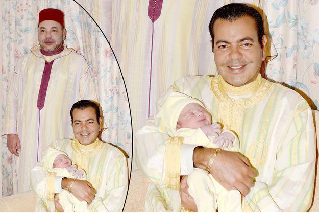 Le roi du Maroc Mohammed VI avec son frère Moulay Rachid et son neveu Moulay Ahmed à Rabat, le 23 juin 2016