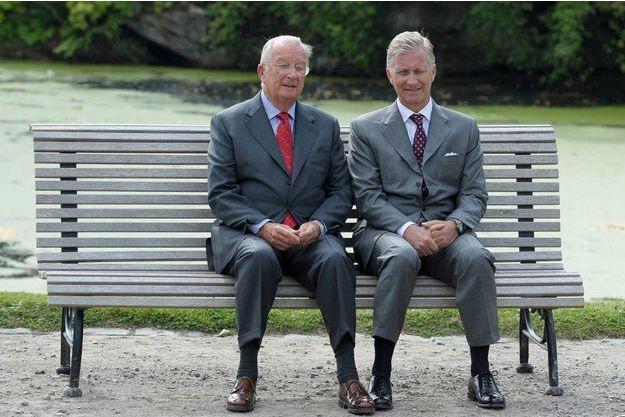 Albert et Philippe, en septembre 2012, à Bruxelles.