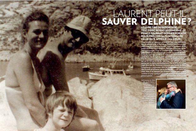 Sur la couverture de « Notre fille s'appelle Delphine » – Le témoignage complet de Sybille de Sélys Longchamps », celle-ci apparaît avec sa fille Delphine (au premier plan) et un homme à l'arrière, qui ressemble visiblement à Albert, encore prince de Liège à l'époque. Sur la couverture de « Notre fille s'appelle Delphine » – Le témoignage complet de Sybille de Sélys Longchamps », celle-ci apparaît avec sa fille Delphine (au premier plan) et un homme à l'arrière, qui ressemble visiblement à Albert, encore prince de Liège à l'époque.