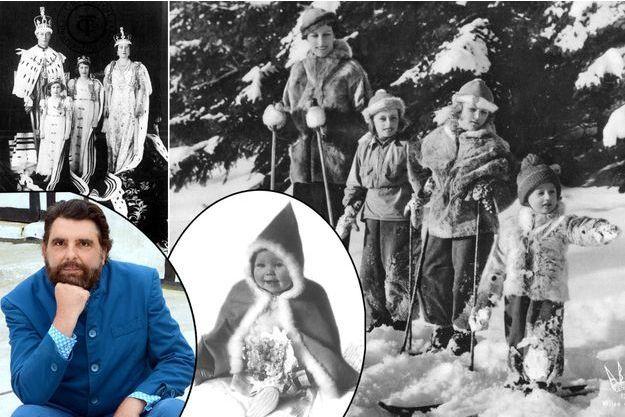 Philippe Delorme (en bas à gauche) a publié plus de 300 photos des familles royales et princières européennes des années 1930