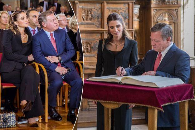 La reine Rania et le roi Abdallah II de Jordanie à Münster en Allemagne, le 8 octobre 2016