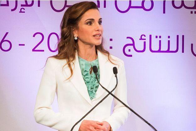 La reine Rania de Jordanie à Amman, le 5 septembre 2016