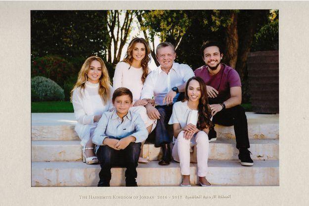 Détail de la carte de voeux 2017 de la reine Rania et du roi Abdallah II de Jordanie